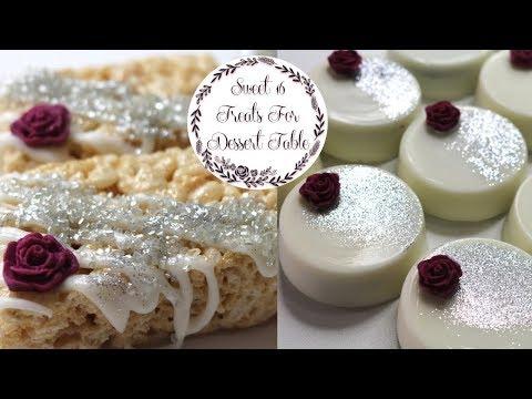 Sweet 16 Treat Ideas For Dessert Table