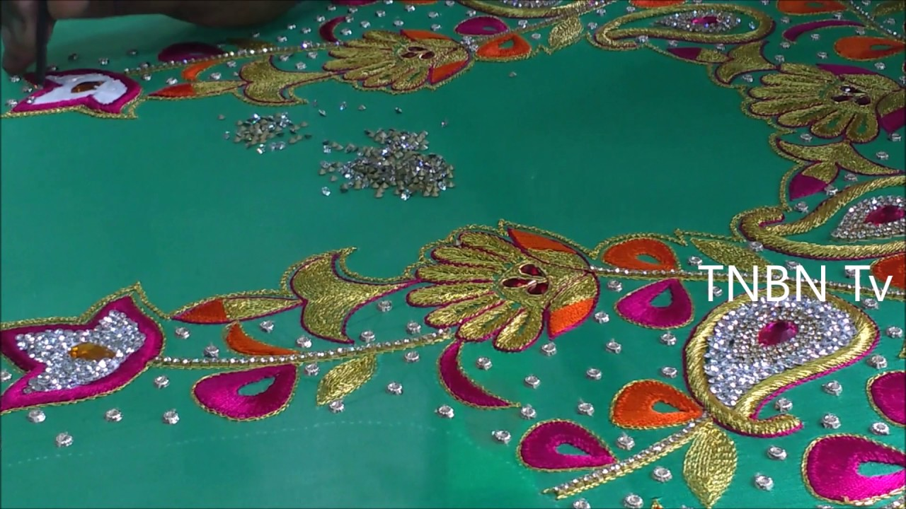 Simple maggam work blouse designs zari for