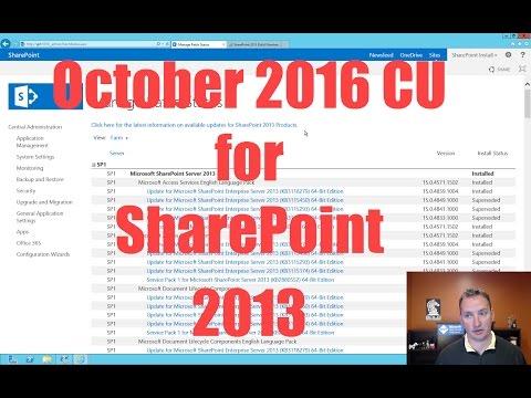 October 2016 Cumulative Update For SharePoint 2013