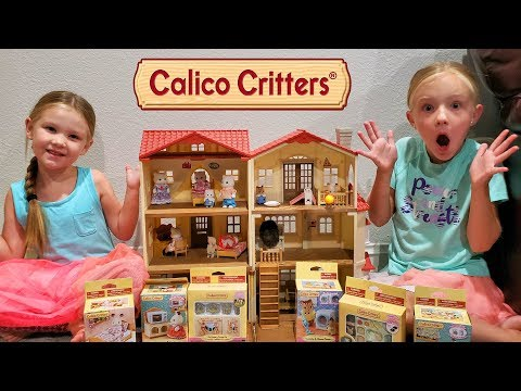Calico Critters Ultimate Home Makeover Pretend Play!!