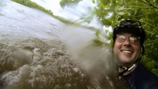 GoPro: Cedar Rapids, Iowa flood 06.01.2013. Underwater bike ride on Cedar River. Lucas Daniel Smith.