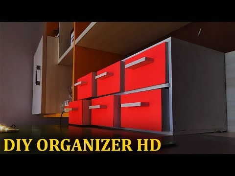 DIY How to make drawer organizer HD (FOAM board furniture) WPC SH EET