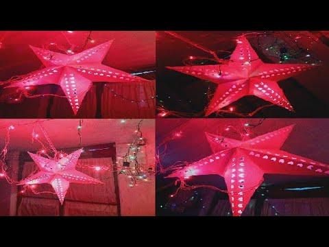 DYE- Star Lantern | How to make Paper Star Lantern for Christmas/Diwali/New Year Decor ~Tutorial √
