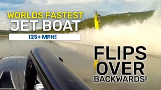 Worlds Fastest Riverboat Flips Over Backwards!