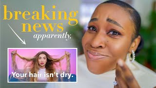 Hair Scientists react to Sarah Ingle hair science // Moisturized Hair is the biggest hair LIE?!