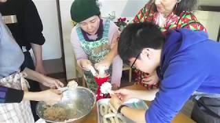 12/15復活「大人のワークショップ」ソーセージと松ぼっくりのリース作り