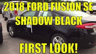 2018 Ford Fusion SE - FIRST LOOK! - Shadow Black - 2.0L - Walk Around and Look Inside