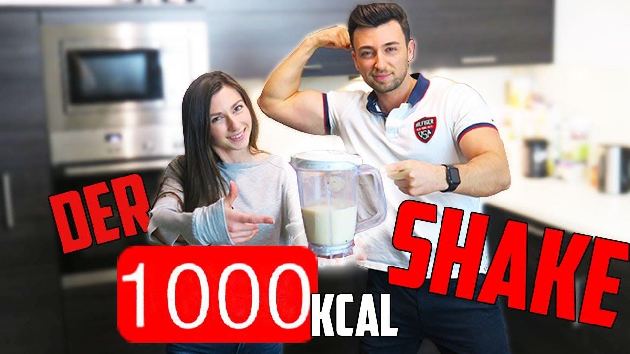 DER 1000 KCAL SHAKE 💪 Gesund Zunehmen | + OUTTAKES | Xenia x3