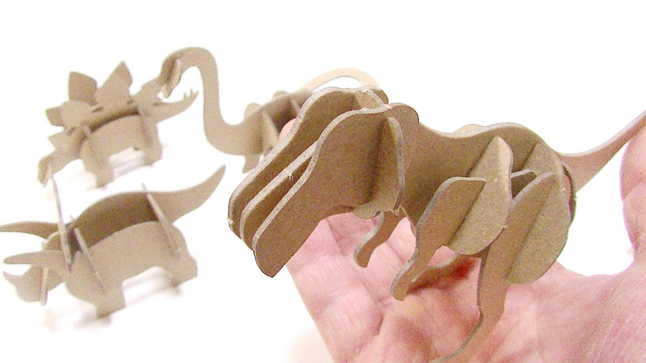 3d dinosaur puzzle instructions