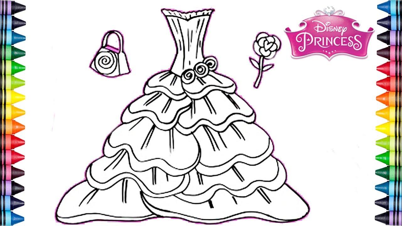 Como dibujar y colorear un Vestido Arco Iris* Dibujos para niños ...