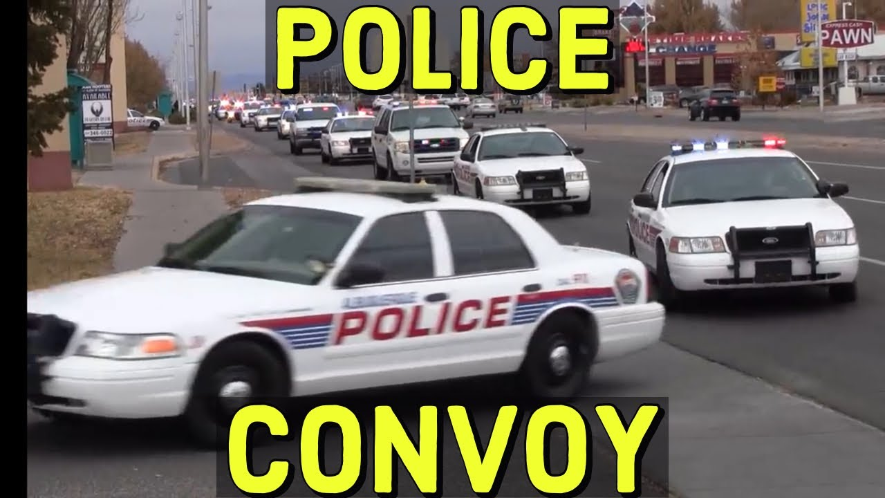 Apd Albuquerque Police Department Bcso Convoy With Lights