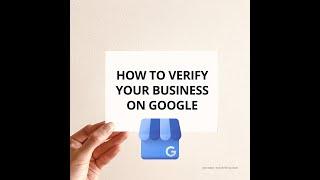 How To Verify Google My Business
