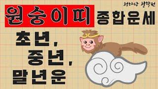 원숭이띠 종합운(도움받는띠! 금전운) 원숭이평생운세 월별운세 생일운세  애정궁합결혼운 직업취업이직운 사업재물…
