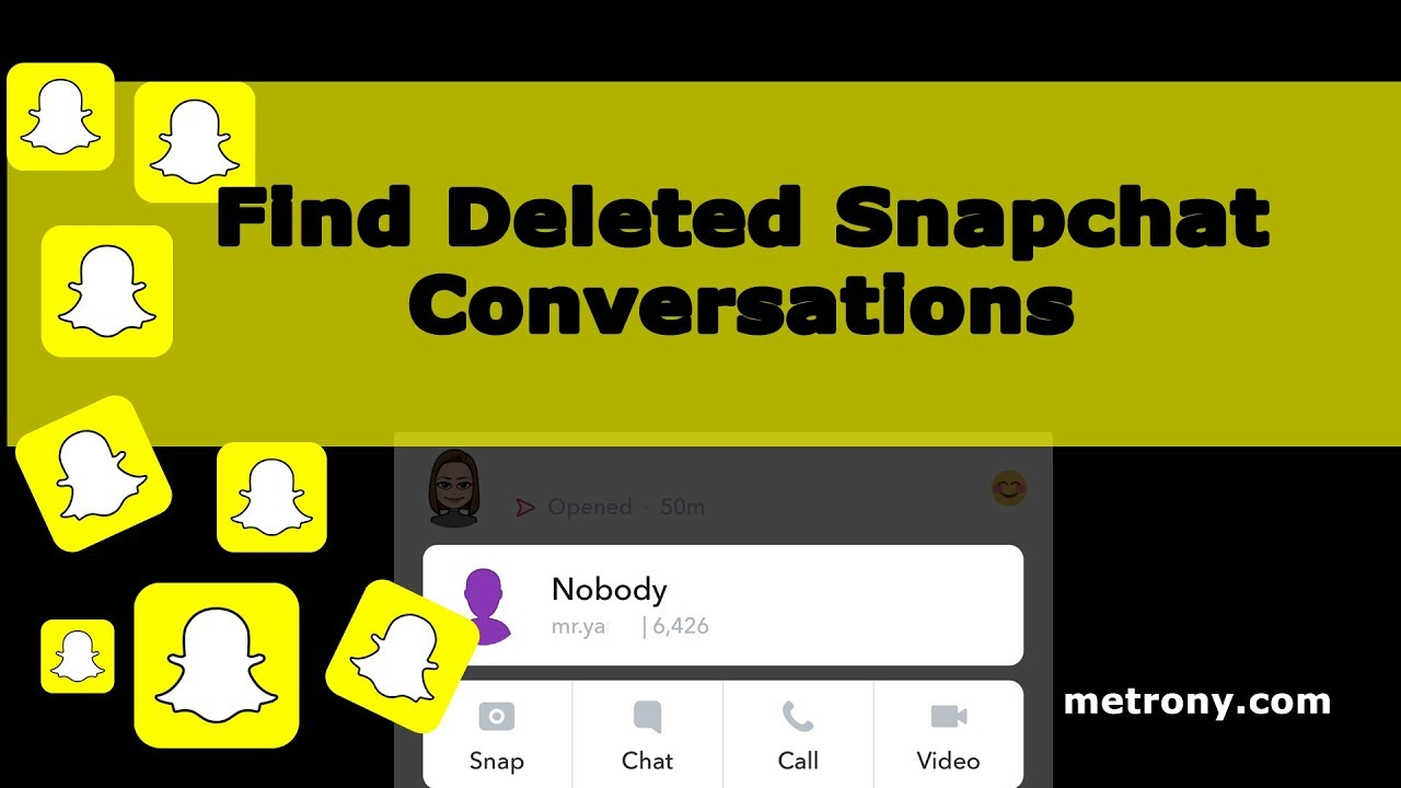 Find snapchat friends delete profile