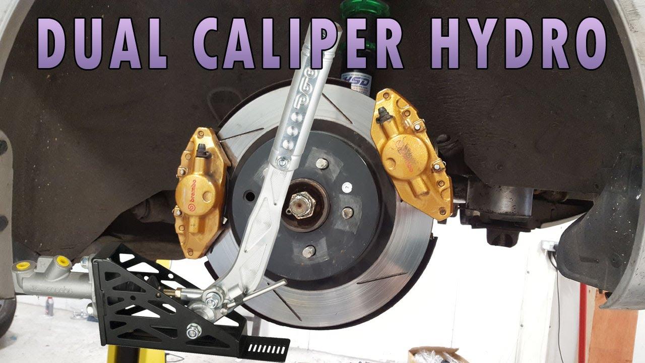 350z Drift Build  7 - Hydraulic Handbrake  Dual Caliper