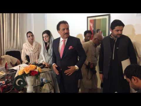 Senator A. Rehman Malik and Mushaal Hussain Malik Joint Press Conference