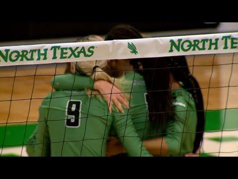 North Texas Volleyball vs UTSA Highlights 9/29/17