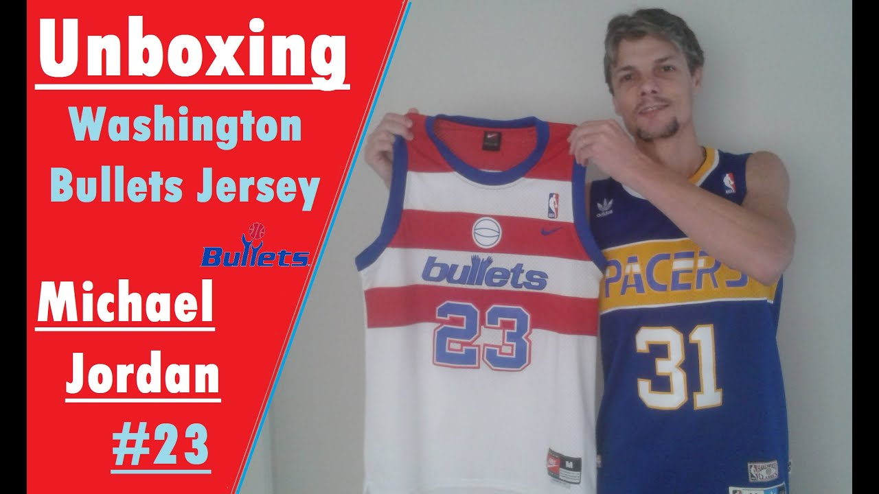 1ae68c8cd Unboxing - Washington Bullets Jersey - NBA - Michael Jordan #23 - AliExpress