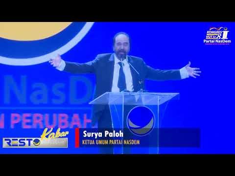 Pidato Surya Paloh Kongres ke 2 Partai NasDem.