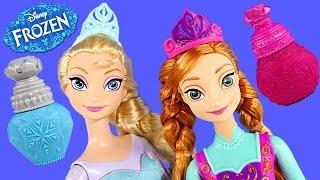 Color Changing Frozen Elsa + Princess Anna Disney Barbie Doll Coloring Change Toys DCTC 2015