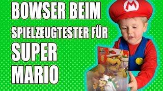 Bowser beim Spielzeugtester Julian für Super Mario