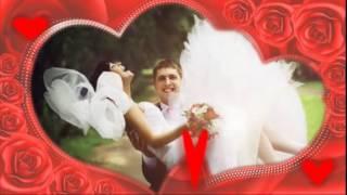 Свадебные футажи   Рамка из роз