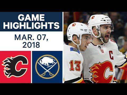 NHL Game Highlights | Flames vs. Sabres - Mar. 07, 2018