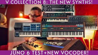 Arturia V Collection 8: The new synths+Juno6 comparison!