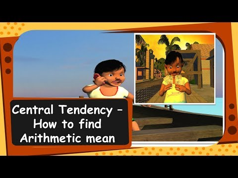 Maths - Central Tendency : How to find arithmetic mean - English