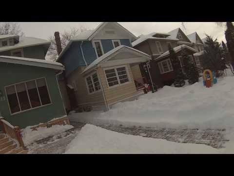 Walking around my Winnipeg neighbourhood in winter.