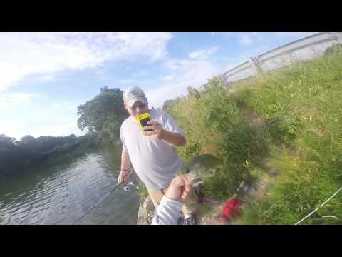 Bass Fishing at Lake Evergreen, Illinois