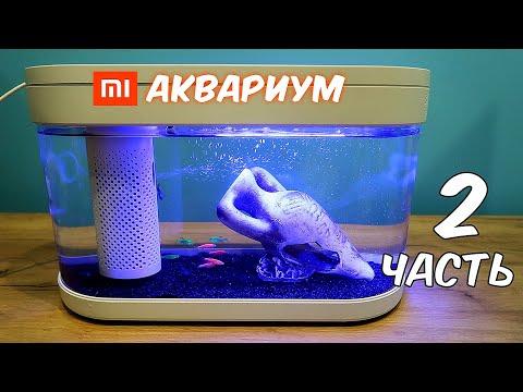 Аквариум XIAOMI. Часть 2. Купил 10 ярких рыбок!