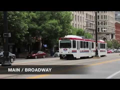 Salt Lake City UTA TRAX Light Rail / Tram