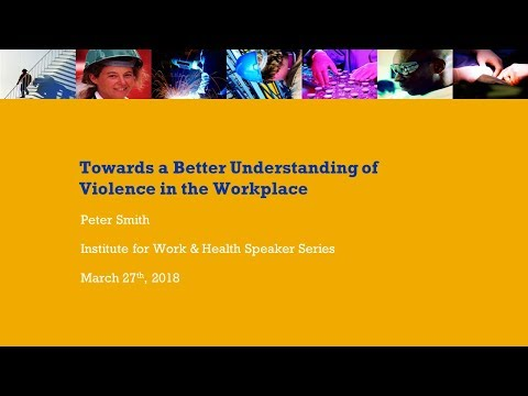 Towards a better understanding of differences in the risk of workplace violence (Mar 27, 2018)