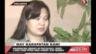 naanakan umano ni pacquiao, huling nakipagkita kay manny noong hunyo