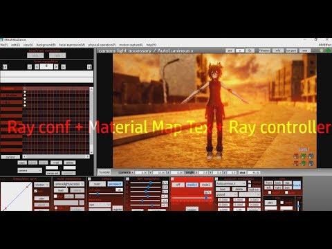 【MMD Ray tutorial】 ► Ray conf + Material Map Tex + Ray controller◄ thumbnail