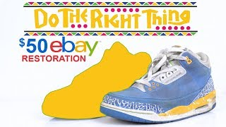 $50 eBay Do the Right Thing Jordan 3's Restored by Vick Almighty