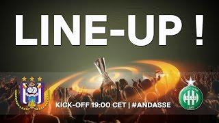 RSCA - AS Saint-Étienne : starting line-up !