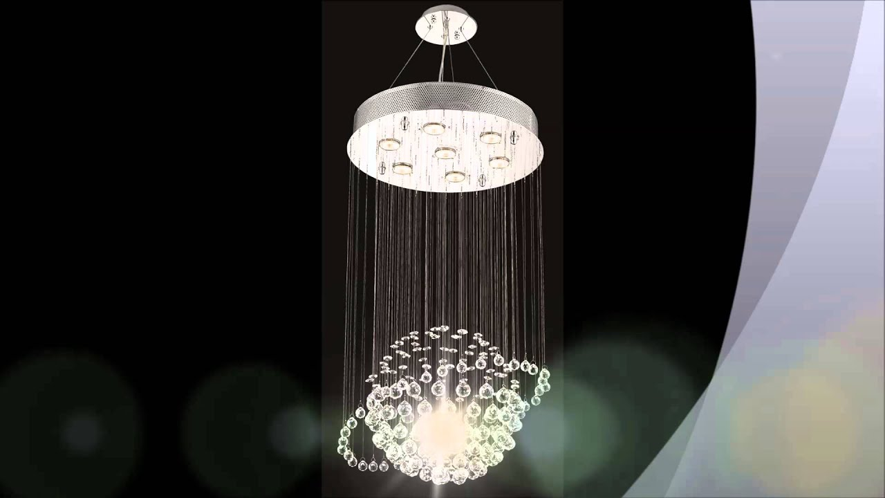 Modern Crystal Chandeliers YouTube – Modern Crystal Chandeliers