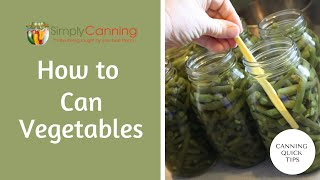 How to can a mixture of vegetables. Specifically green beans and onions. Canning Quick tip series.