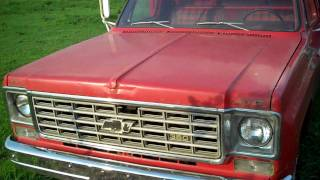 Cold Start 1975 Chevy C30 Dump Truck
