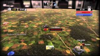 RUSE 1 vs 1 online match on map Face to Face [PS3, PS Move]