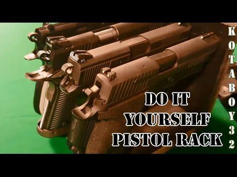 DIY Four Pistol Safe Rack Version 2