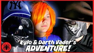 Kylo Ren & Darth Vader ADVENTURE orange hair mystery girl x-men superhero real life movie xmen kids