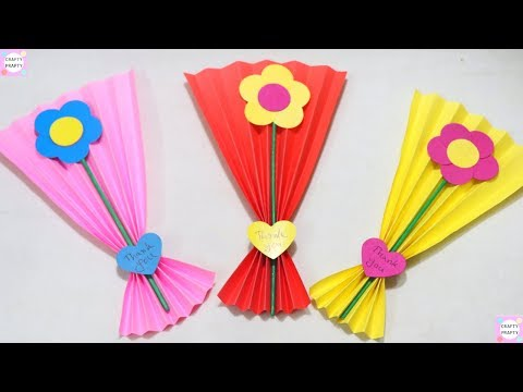 DIY Paper greeting card /  The idea is very beautiful and simple - making a gift with paper