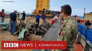 Türk dalğıclar Xəzərdən Rəşad Atakişiyevin pilotu olduğu MiQ-29 qırıcısının qalıqlarını çıxarıb