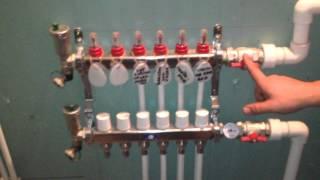 видео Лучевая система отопления двухэтажного дома