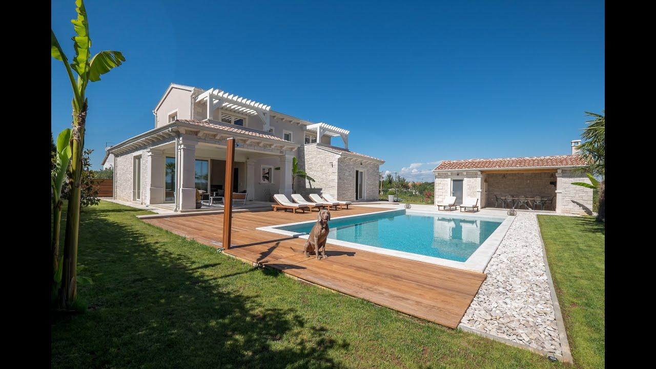 New stone vila near Pore for sale