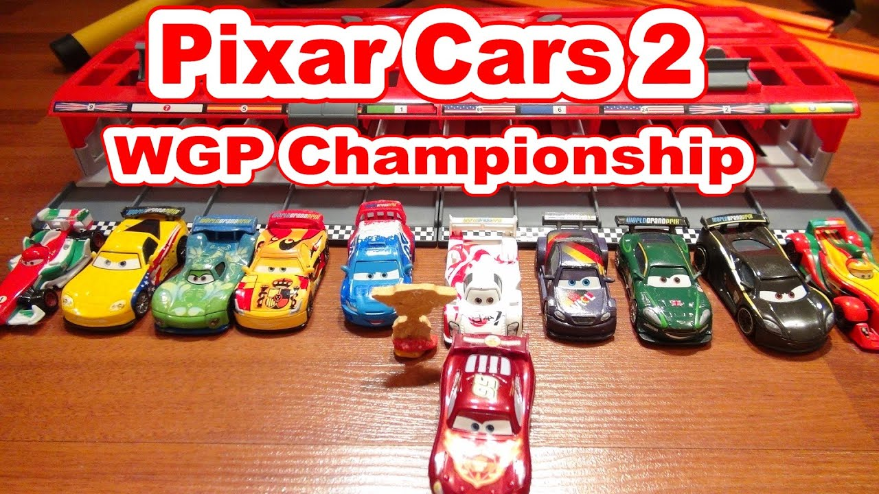 Disney Pixar Cars Wgp Racers With Lightning Mcqueen With The Race