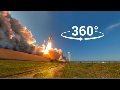 [VR 360] Space Shuttle flight deck + launch of STS-133